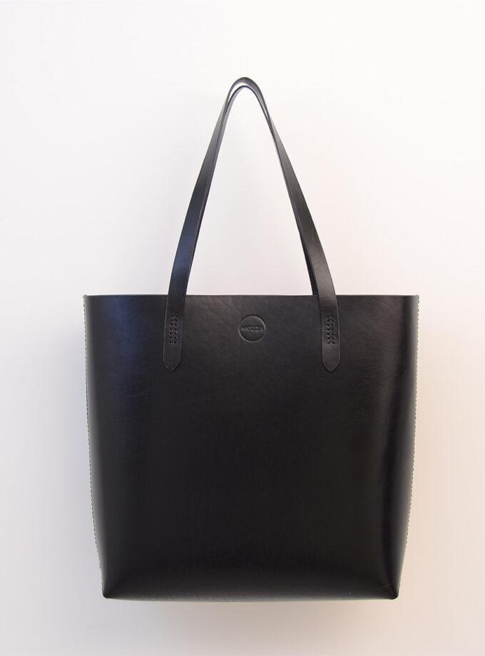 Mozza - Bold Vegtan Black Tote Bag