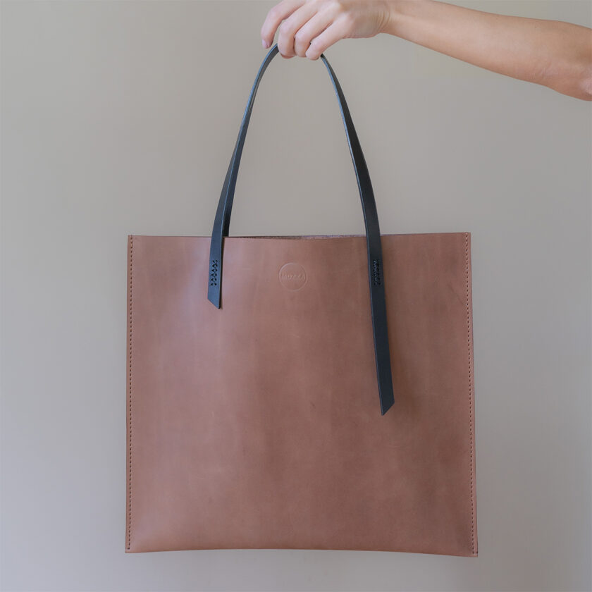 Mozza - Slim X Brown Tote Bag