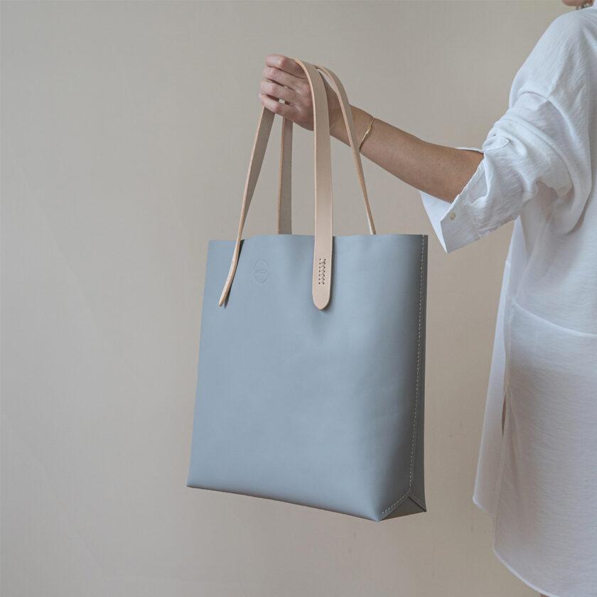 Mozza - Bold Blue Grey Tote Bag