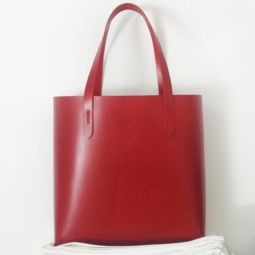 Mozza - Bold Vegtan Red Tote Bag
