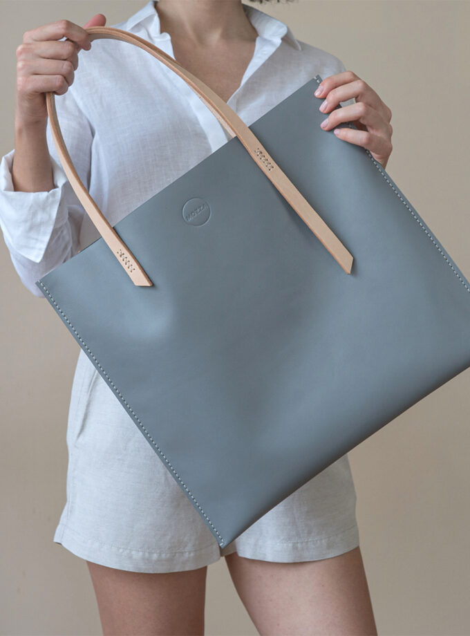 Mozza - Slim X Blue Grey Tote Bag